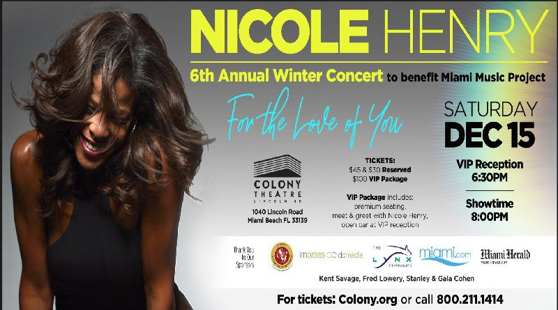 MIAMI'S INTERNATIONAL VOCAL JAZZ STAR NICOLE HENRY